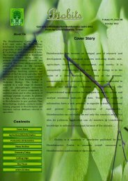 Contents - Bioinformatics Centre, Kerala Agricultural University