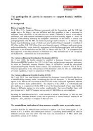 The participation of Austria in measures to support financial stability ...