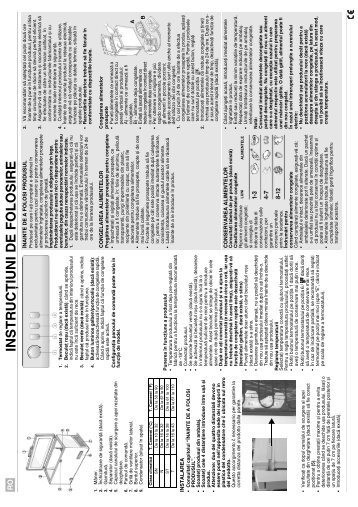 KitchenAid ZS265 - Freezer - ZS265 - Freezer RO (850794510010) Istruzioni per l'Uso