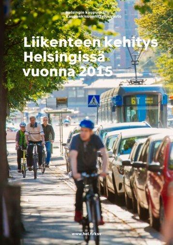 Liikenteen kehitys Helsingissä vuonna 2015