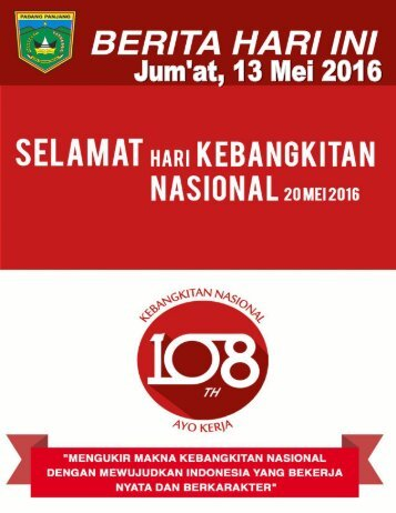 e-Kliping Jum'at,13 Mei 2016