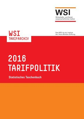 2016 TARIFPOLITIK