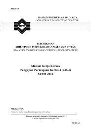 Manual Kerja Kursus Pengajian Perniagaan Kertas 4 (946/4) STPM 2016