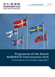 Programme of the Danish NORDEFCO Chairmanship 2016