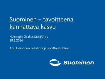Suominen – tavoitteena kannattava kasvu