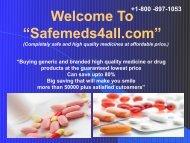 Buy Cheap Generic Drugs Online – Safemeds4all