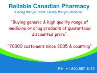 Buy Canadian Generic Drugs Online – Reliable Canadian Pharmacy