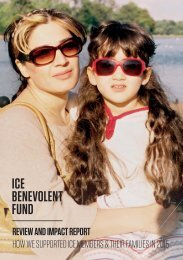 REVIEW AND IMPACT REPORT HOW WE SUPPORTED ICE MEMBERS & THEIR FAMILIES IN 2015