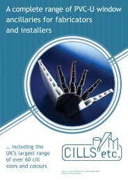 A complete range of PVC-U window ancillaries for ... - Plaslyne
