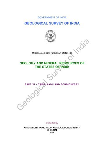 geology and mineral resources of the states of india