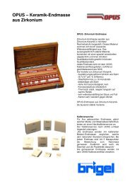 OPUS – Keramik-Endmasse aus Zirkonium - Brigel AG