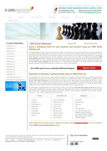 CMO Email Addresses |CMO Email List | CMO Mailing Addresses
