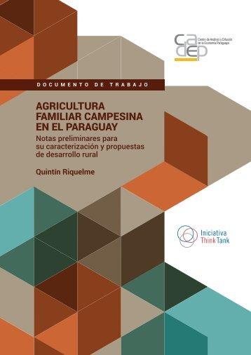 AGRICULTURA FAMILIAR CAMPESINA EN EL PARAGUAY