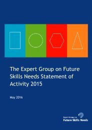 The Expert Group on Future Skills Needs Statement of Activity 2015