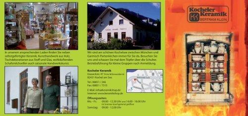 Unser Flyer - Kocheler Keramik