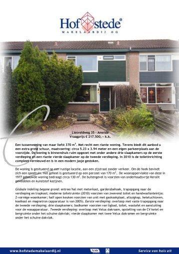 Liesveldweg 35 - Ameide - Hofstede Makelaardij