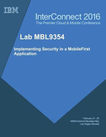 Lab MBL9354