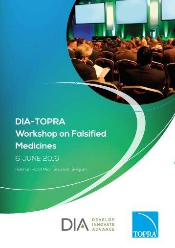 DIA-TOPRA Workshop on Falsified Medicines