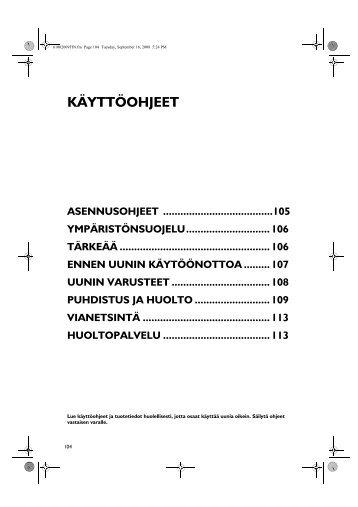 KitchenAid 901 237 42 - Oven - 901 237 42 - Oven FI (857922101000) Istruzioni per l'Uso