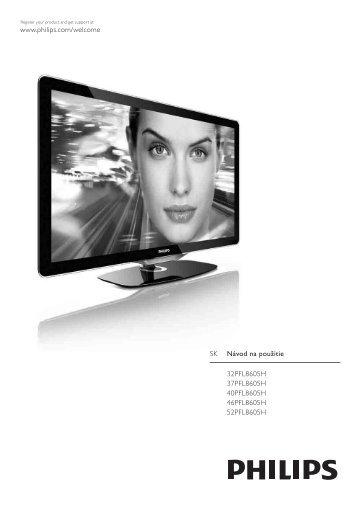 Philips Téléviseur LED - Mode d'emploi - SLK