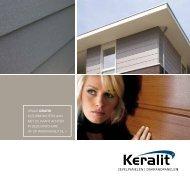 Brochure Keralit gevelpanelen en dakrandpanelen - Erven Feenstra