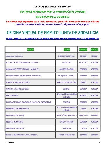 Oficina virtual de empleo junta de andaluc a for Oficina virtual empleo