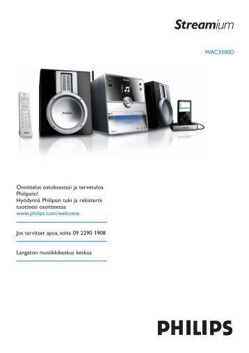 Philips Streamium Centre Streamium - Mode d'emploi - FIN