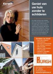 Geniet van uw huis zonder te schilderen - van der Burgh - Timmer ...