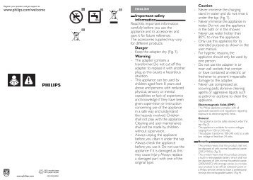 Philips Beardtrimmer series 5000 Tondeuse barbe de 3 jours - Instructions avant utilisation - NOR