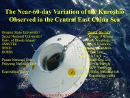 The near-60-day variation of Kuroshio observed - PAMS