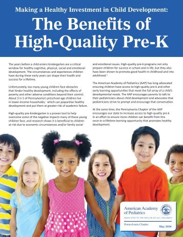 The Benefits of High-Quality Pre-K