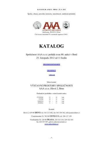 KATALOG - Antikvity Art Aukce