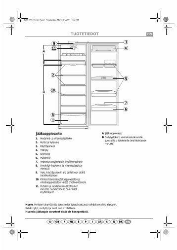 KitchenAid 701 501 90 - Refrigerator - 701 501 90 - Refrigerator FI (853981061000) Scheda programmi