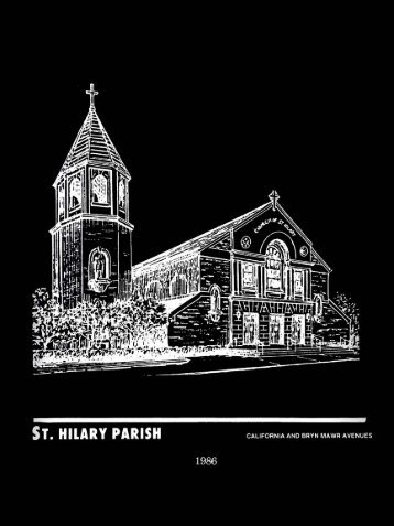 St Hilary Souvenir program 1986 IA