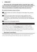 Philips Shaver series 3000 Rasoir électrique rasage à sec - Instructions avant utilisation - ENG - Page 6