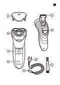 Philips Shaver series 3000 Rasoir électrique rasage à sec - Mode d'emploi - RUS - Page 2