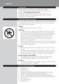 Philips Shaver series 3000 Rasoir électrique rasage à sec - Mode d'emploi - SLK - Page 4