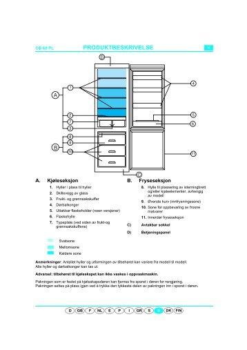 KitchenAid 900 162 33 - Fridge/freezer combination - 900 162 33 - Fridge/freezer combination NO (853942301010) Scheda programmi