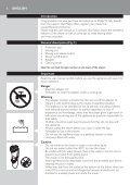 Philips Shaver series 3000 Rasoir électrique rasage à sec - Mode d'emploi - HRV - Page 6