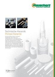 Technische Keramik Poröse Keramik - Membrane guide