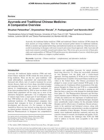 Ayurveda and Traditional Chinese Medicine: A Comparative Overview
