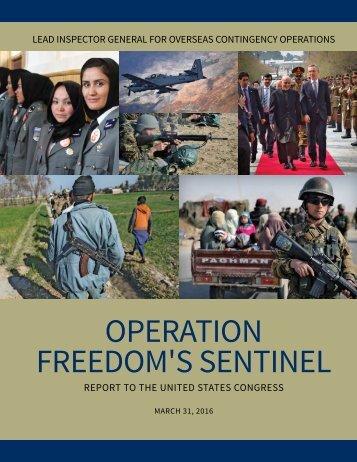 OPERATION FREEDOM'S SENTINEL