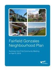 Fairfield Gonzales Neighbourhood Plan