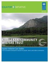 KERALA KANI COMMUNITY WELFARE TRUST - Equator Initiative