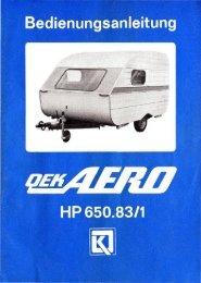 Bedienungsanleitung QEK AERO HP 650.83/1 - Henschelsoft