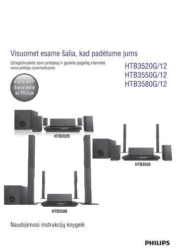 Philips Home Cinéma Blu-ray 3D 5 enceintes - Mode d'emploi - LIT