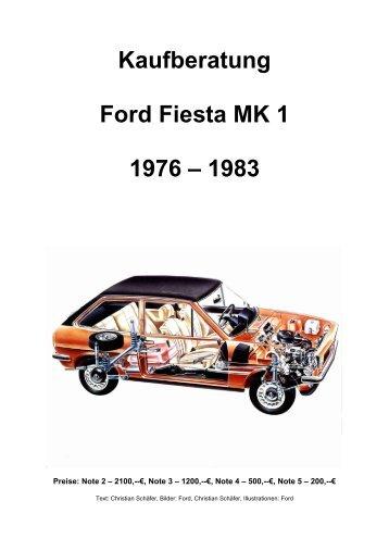 Fiesta 1 Kaufberatung - Ford Fiesta Club Deutschland