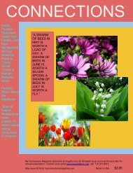 CONNECTIONS THE MAY FLOWERS IISSUE     MAY 2016