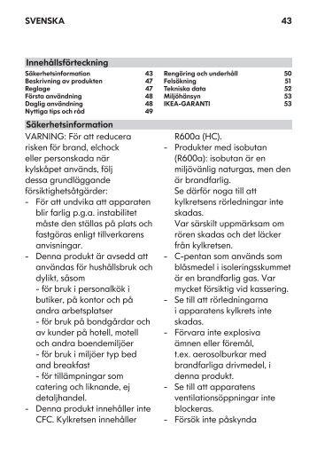 KitchenAid UC FZ 80 - Freezer - UC FZ 80 - Freezer SV (850785196000) Istruzioni per l'Uso