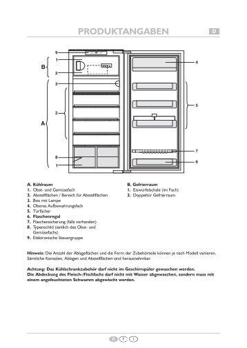 KitchenAid 914.3.32 - Refrigerator - 914.3.32 - Refrigerator EUR (855164316000) Scheda programmi